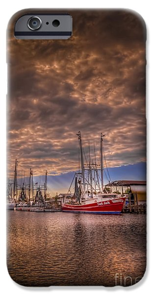 Ocean Sunset iPhone Cases - The Captain Jack iPhone Case by Marvin Spates