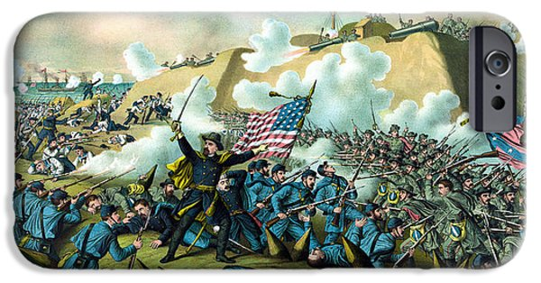Civil War Mixed Media iPhone Cases - The Capture of Fort Fisher iPhone Case by War Is Hell Store