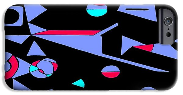 Abstract Digital Drawings iPhone Cases - The Carpenter iPhone Case by Zizi Lagadec