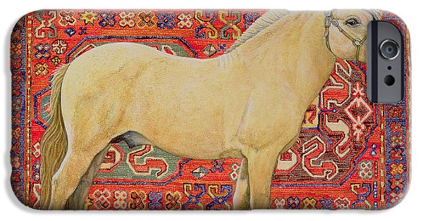 Persian Carpet iPhone Cases - The Carpet Horse iPhone Case by Ditz