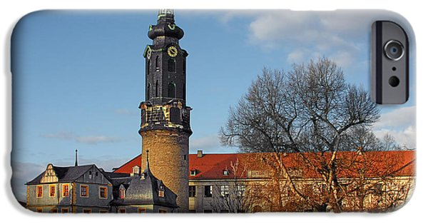 Christine Till iPhone Cases - The Castle - Weimar - Thuringia - Germany iPhone Case by Christine Till