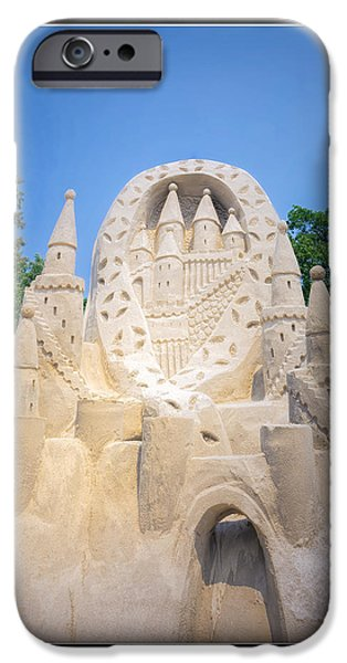 Sand Castles iPhone Cases - The Castle Blue Water Sand Fest iPhone Case by LeeAnn McLaneGoetz McLaneGoetzStudioLLCcom
