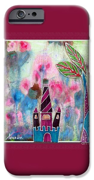 Youthful Mixed Media iPhone Cases - The castle dreams iPhone Case by Aqualia