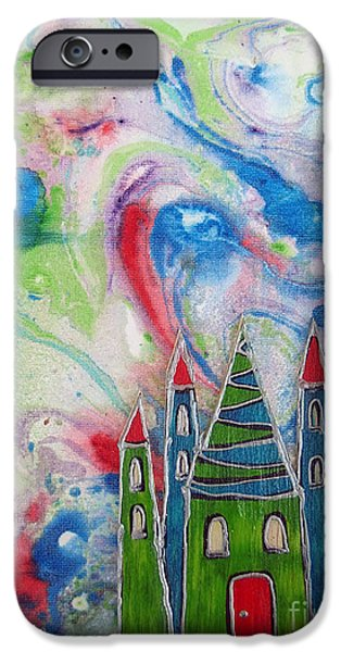 Youthful Mixed Media iPhone Cases - The castle forgives iPhone Case by Aqualia