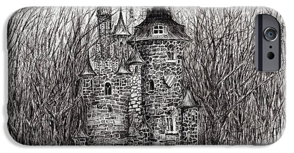 Haunted House iPhone Cases - The Castle in the forest of Findhorn iPhone Case by Vincent Alexander Booth