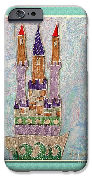 Youthful Mixed Media iPhone Cases - The castle travels iPhone Case by Aqualia
