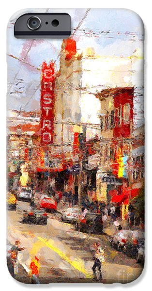 Bay Area Digital iPhone Cases - The Castro in San Francisco . 7D7572 iPhone Case by Wingsdomain Art and Photography