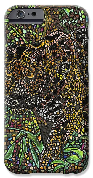 Mosaic iPhone Cases - The Cat iPhone Case by Juliana Kroscen