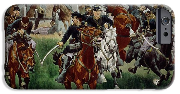 Horseback Riding iPhone Cases - The Cavalry iPhone Case by WT Trego