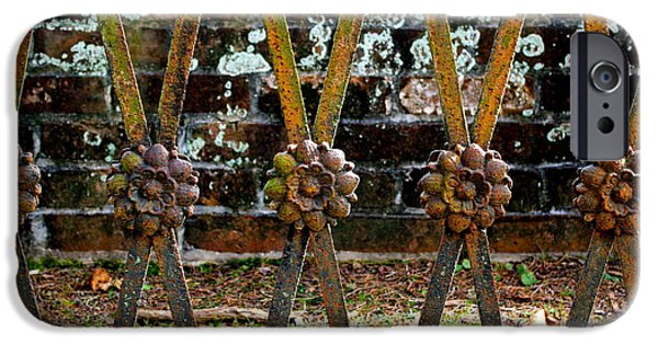 Rust Sculptures iPhone Cases - The Cemetery Gate iPhone Case by E A
