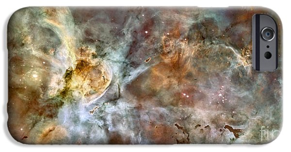 Astronomy iPhone Cases - The Central Region Of The Carina Nebula iPhone Case by Stocktrek Images