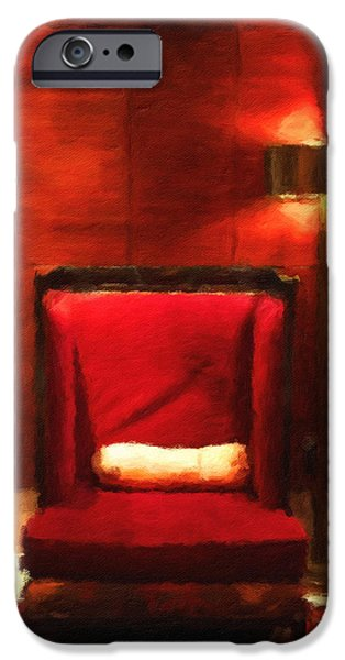 Abstract Digital Photographs iPhone Cases - The Chair iPhone Case by Jonathan Nguyen