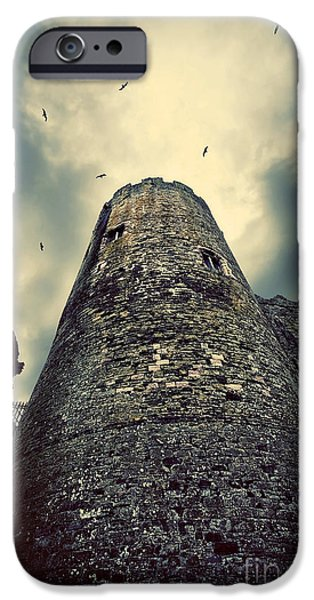 Conway iPhone Cases - The chapel tower iPhone Case by Meirion Matthias
