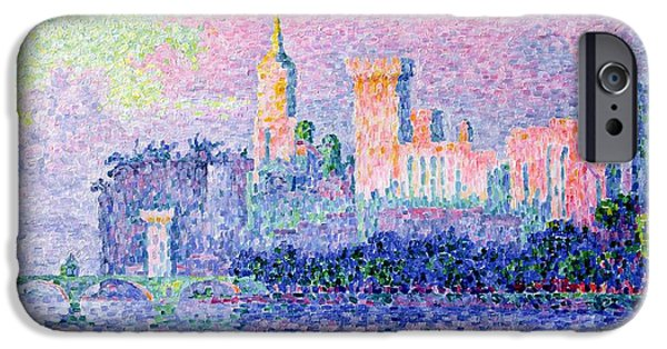 Pope iPhone Cases - The Chateau des Papes iPhone Case by Paul Signac