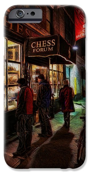 Chess Queen iPhone Cases - The Chess Forum iPhone Case by Lee Dos Santos