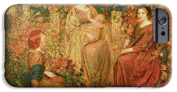 Pre-raphaelites iPhone Cases - The Child iPhone Case by Thomas Edwin Mostyn