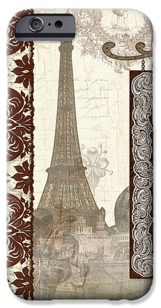 Hand-watercolored iPhone Cases - The Chocolate Artisan - Paris iPhone Case by Audrey Jeanne Roberts