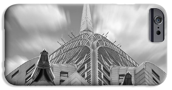 Architecture Digital iPhone Cases - The Chrysler Building 2 iPhone Case by Mike McGlothlen