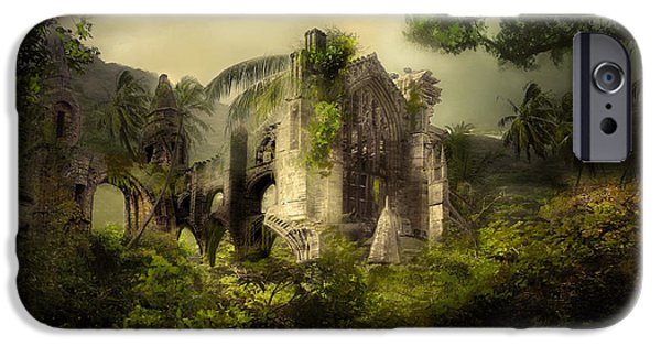 Ruins iPhone Cases - The Church iPhone Case by Karen K