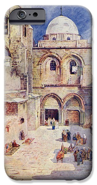 Sepulchre Drawings iPhone Cases - The Church Of The Holy Sepulchre iPhone Case by Vintage Design Pics