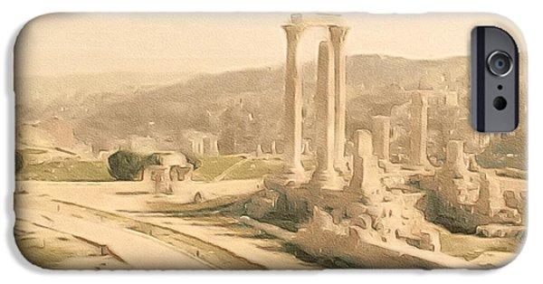 Jordan iPhone Cases - The Citadel at Amman iPhone Case by Susan Maxwell Schmidt