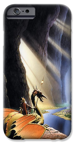 Cavern iPhone Cases - The Citadel iPhone Case by The Dragon Chronicles - Steve Re