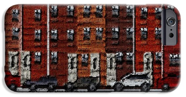 Tetris Block iPhone Cases - The City iPhone Case by Jacquin