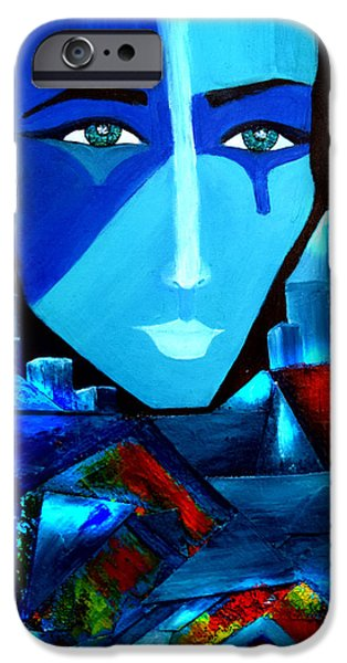 Buildings Mixed Media iPhone Cases - Abstract Two iPhone Case by Patricia Motley
