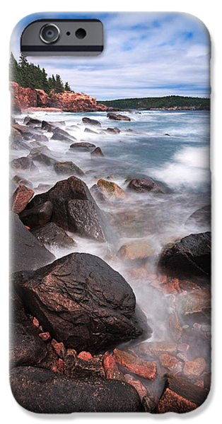 Cape Neddick Lighthouse iPhone Cases - The Cliff   iPhone Case by Emmanuel Panagiotakis