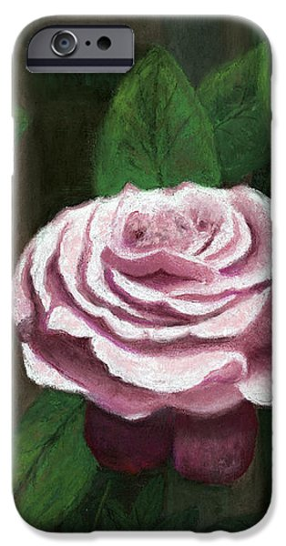 Botanical Pastels iPhone Cases - The Climbing Rose iPhone Case by Ginny Neece