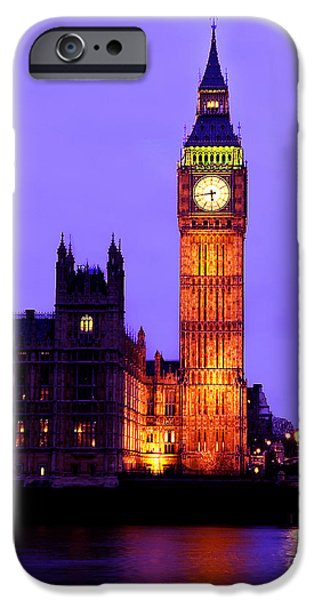 The Clock iPhone Cases - The Clock Tower aka Big Ben Parliament London iPhone Case by Chris Smith