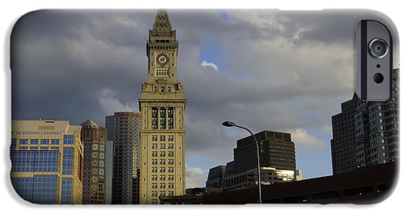 Boston Ma iPhone Cases - The Clock Tower iPhone Case by Jasmin Hrnjic