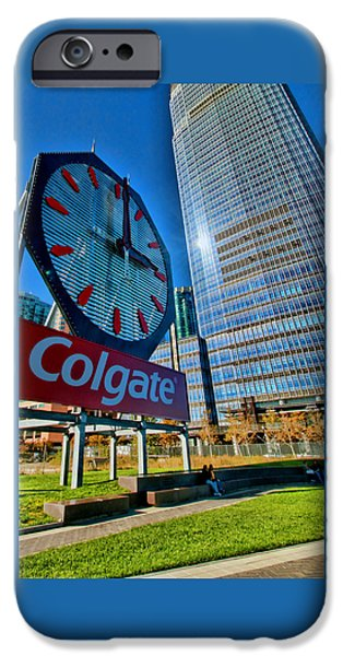 One iPhone Cases - The Colgate Clock - Jersey City iPhone Case by Allen Beatty