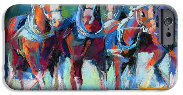 The Horse Pastels iPhone Cases - The Collaboration iPhone Case by Sandy  Lindblad