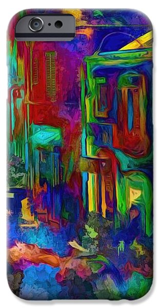 Abstract Digital iPhone Cases - The Color Neighborhood iPhone Case by Daniel  Arrhakis