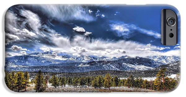 Nature Abstracts iPhone Cases - The Colorado Rockies iPhone Case by Christopher Wieck