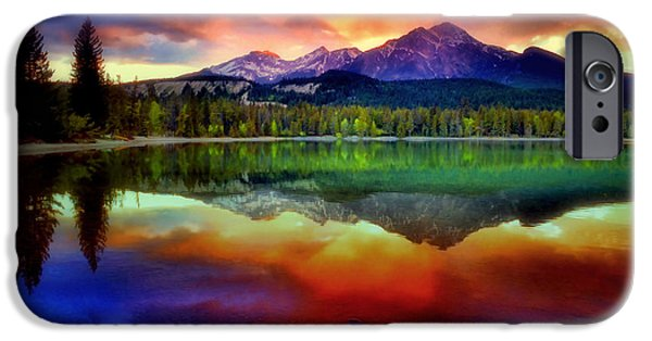 Snow iPhone Cases - The Colours the Mountain Sees When She Closes Her Eyes iPhone Case by Tara Turner