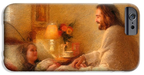 Religious Art iPhone Cases - The Comforter iPhone Case by Greg Olsen