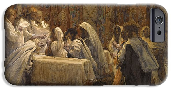Bible Paintings iPhone Cases - The Communion of the Apostles iPhone Case by Tissot