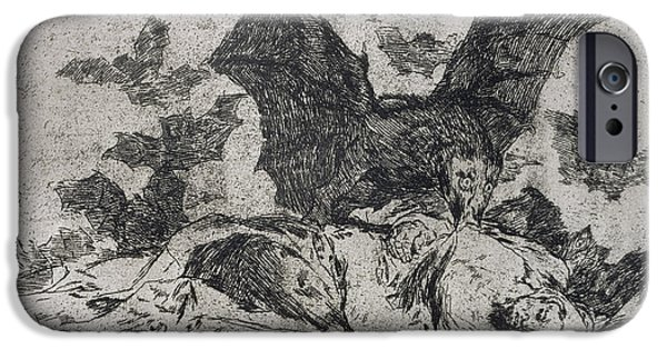 Vulture iPhone Cases - The consequences iPhone Case by Goya