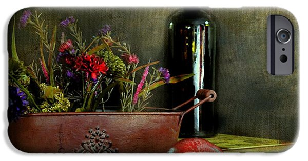 Table Wine iPhone Cases - The Copper Planter iPhone Case by Diana Angstadt