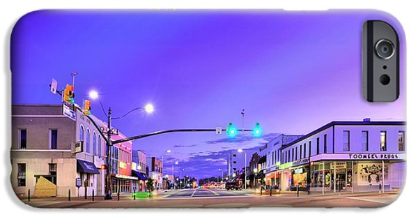 Toomers Corner iPhone Cases - The Corner of College And Magnolia iPhone Case by JC Findley