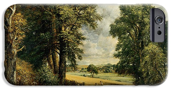 Rural iPhone Cases - The Cornfield iPhone Case by John Constable