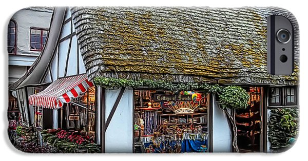 Old Digital Art iPhone Cases - The Cottage Of Sweets - Carmel iPhone Case by Glenn McCarthy