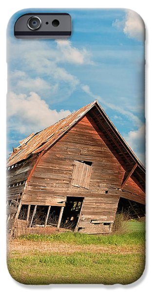 Old Barn iPhone Cases - The Crooked Barn iPhone Case by Kim Hojnacki