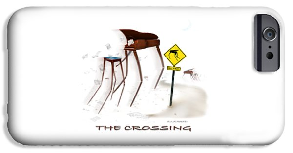 Piano Drawings iPhone Cases - The Crossing SE iPhone Case by Mike McGlothlen