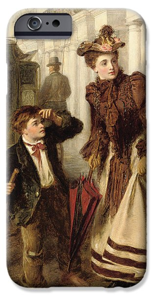Sweeps iPhone Cases - The Crossing Sweeper iPhone Case by William Powell Frith
