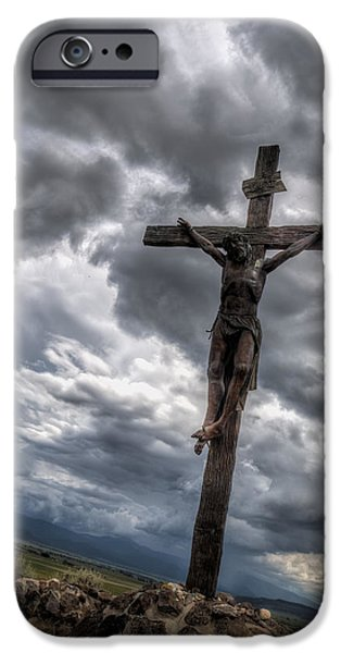 Crucifixtion iPhone Cases - The Crucifixtion iPhone Case by Lena Sandoval-Stockley