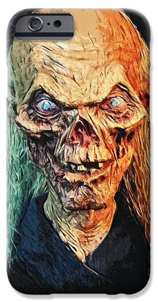 Haunted House iPhone Cases - The Crypt Keeper iPhone Case by Taylan Soyturk