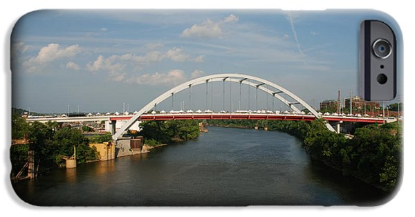 River View iPhone Cases - The Cumberland River in Nashville iPhone Case by Susanne Van Hulst